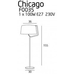 Lampadar  Maxlight CHICAGO F0035