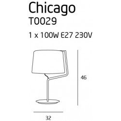 Lampa birou  Maxlight CHICAGO T0029