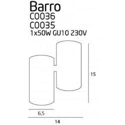 Plafoniera  Maxlight BARRO C0036