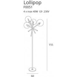 Lampadar  Maxlight LOLLIPOP BK F0051