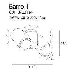 Plafoniera  Maxlight BARRO C0114
