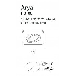 Spot  Maxlight ARYA SQUARE H0100