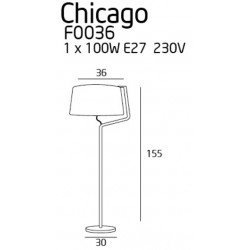 Lampadar  Maxlight CHICAGO F0036