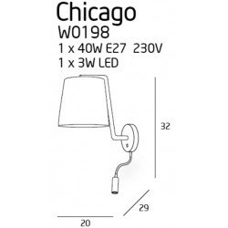 Aplica  Maxlight CHICAGO W0198
