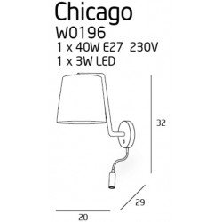 Aplica  Maxlight CHICAGO W0196