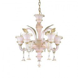 Candelabru ANTONIETTA-SP5-ROSA IDEAL LUX