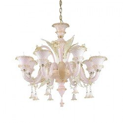 Candelabru ANTONIETTA-SP8-ROSA IDEAL LUX