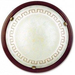 Plafoniera Le 01/01412 alb anticata grace il legno 60 watt E27